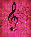 Vintage pink music background Stock Photography