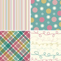 Vintage pink turquoise pattern Royalty Free Stock Photography
