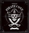 Vintage Pirates Skull Frame Ba...