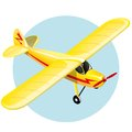 Vintage plane yellow shiny gradient mash illustration Royalty Free Stock Image