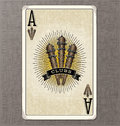 Vintage playing card vector illustration of the ace of clubs wornout Stock Image