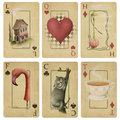 Vintage playing cards Royalty Free Stock Photo
