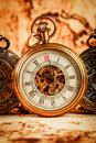 Vintage pocket watch antique Royalty Free Stock Photos