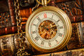 Vintage pocket watch Royalty Free Stock Photo