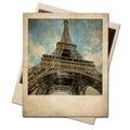 Vintage polaroid Eiffel tower instant photo Royalty Free Stock Photo