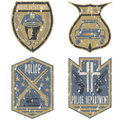 vintage police law enforcement badges Royalty Free Stock Photo