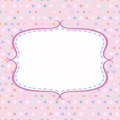 Vintage polka dot card with frame on background Royalty Free Stock Image