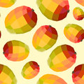 Vintage polygon mango yellow pattern Royalty Free Stock Photo