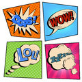 Vintage Pop Art Comic Speech Bubble Set with Expressions