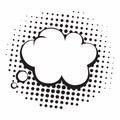 Vintage Pop Art Comics Speech Bubbles Vector Black and White Thinking Illustration