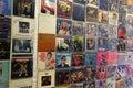 Vintage pop music vinyl records