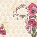 Vintage Poppy Background Royalty Free Stock Images