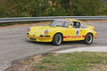 Vintage porsche t hairpin bend uphill race rally predappio legend historical italian uphill race july predappio fc italy Stock Photography