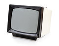 Vintage portable TV set Royalty Free Stock Photo