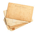 Vintage post card empty blank Royalty Free Stock Photography