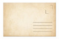 Vintage postage envelope or postcard isolated on white Stock Image