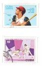 Vintage postage stamps Stock Image