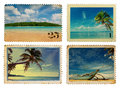 Vintage postage stamps Royalty Free Stock Photo