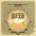 Vintage postcard, cover menu - Beer, beer snack Royalty Free Stock Photos