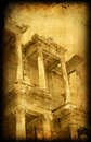 Vintage postcard with Greece, Ephesus Stock Photos