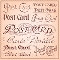 Vintage postcard lettering vector Royalty Free Stock Photos