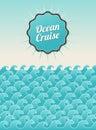 Vintage postcard ocean panorama Royalty Free Stock Photo