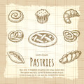 Vintage poster of bakery products