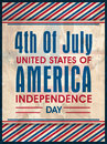 Vintage poster, banner or flyer for American Independence Day. Royalty Free Stock Photo