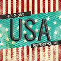 Vintage Poster, Banner or Flyer for 4th of July. Royalty Free Stock Photo