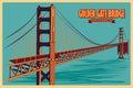 Vintage Poster Of Golden Gate ...