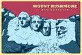 Vintage Poster Of Mount Rushmo...