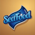 Vintage poster for seafood restaurant vector Royalty Free Stock Photos