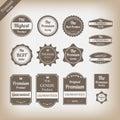 Vintage premium quality labels set.