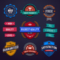 Vintage premium quality labels set of retro styled badges vector illustration Stock Images