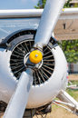 Vintage propeller airplane close-up Royalty Free Stock Photos