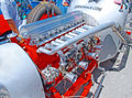 Vintage Race Car Engine Royalty Free Stock Photo