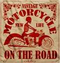 Vintage Race Motorcycle Retro Man T shirt Graphic Design