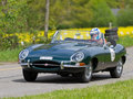 Vintage race touring car Jaguar E-Type from 1963 Stock Photos