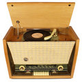 Vintage radio-gramophone. Royalty Free Stock Photos