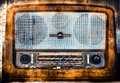 Vintage radio with a grunge texture Royalty Free Stock Photo