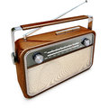 Vintage radio high resolution d rendering of a Stock Photo