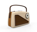 Vintage radio isolated on white background d render Royalty Free Stock Images