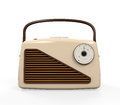 Vintage radio isolated on white background d render Stock Photography