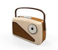 Vintage radio isolated on white background d render Stock Images
