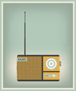 Vintage radio set vector illustration Stock Photography