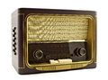 Vintage radio on white background Royalty Free Stock Photography