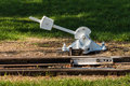 Vintage railroad switch Royalty Free Stock Photo