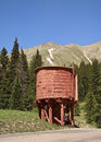Vintage railroad water tower bakers tank served the denver south park and pacific narrow gauge from como to leadville in colorado Stock Images
