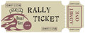 Vintage Rally Ticket
