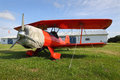 Vintage Red Biplane Royalty Free Stock Photo